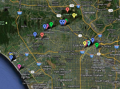 Google Map of LA