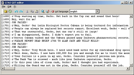 GTA2 GXT editor