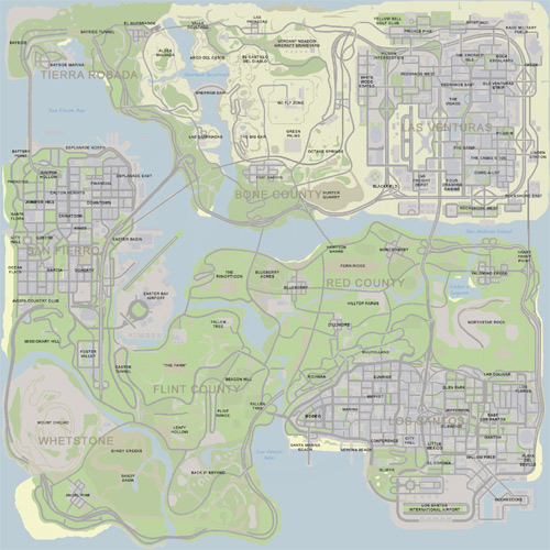 gta 5 map. The San Andreas map,