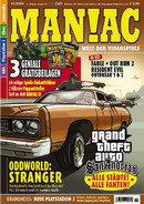 Maniac Magazine November Issue Grand Theft Auto San Andreas Preview Cover
