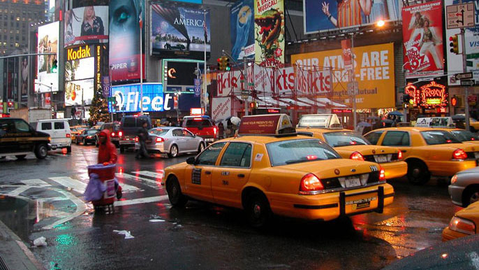 Times square, new york city. 'star junction' is the gta iv equivalent