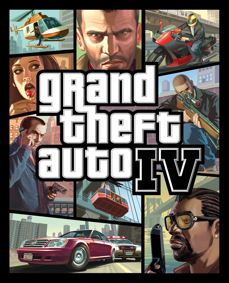 Grand theft auto iv box art