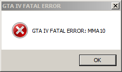GTA IV PC Error