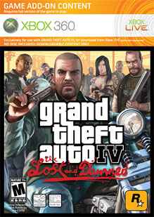 Grand Theft Auto IV TLAD Box Art
