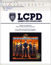 Auto-response from the email we sent to tips@libertycitypolice.com