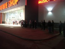 Line at Future Shop